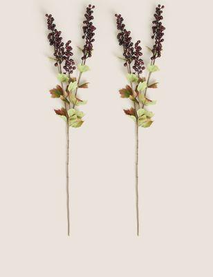 Set of 2 Artificial Berry Single Stems