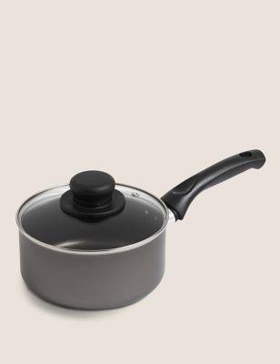 Aluminium 16cm Small Non-Stick Saucepan