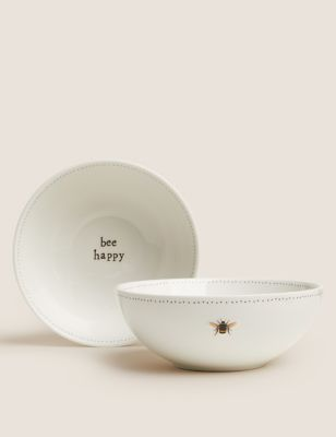 Set of 2 Bee StayNew™ Cereal Bowls