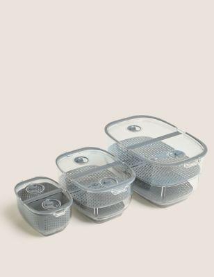 Set of 3 Nesting Fridge Storage Containers