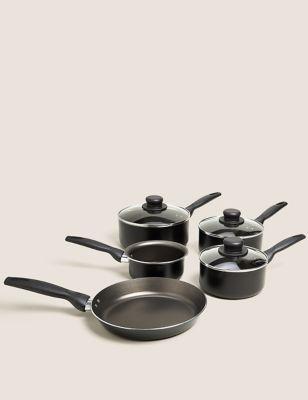 5 Piece Aluminium Pan Set