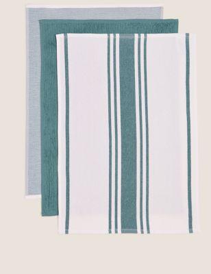 Set of 3 Antibacterial Kitchen Hand Towels