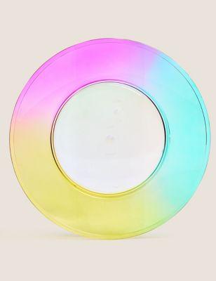 Set of 4 Rainbow Picnic Dinner Plates