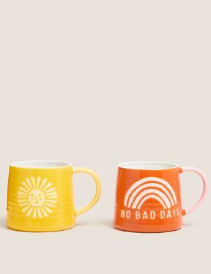 Set of 2 Sunshine & No Bad Days Mugs