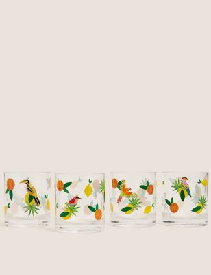 Set of 4 Jungle Picnic Tumblers
