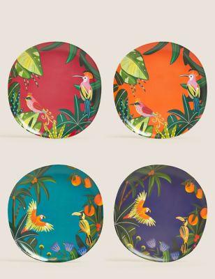 Set of 4 Jungle Dinner Plates