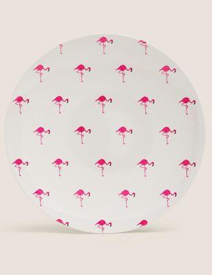 Set of 4 Flamingo Picnic Dinner Plates