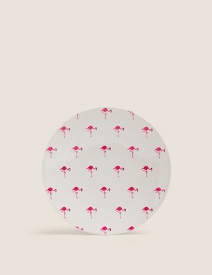 Set of 4 Flamingo Picnic Side Plates