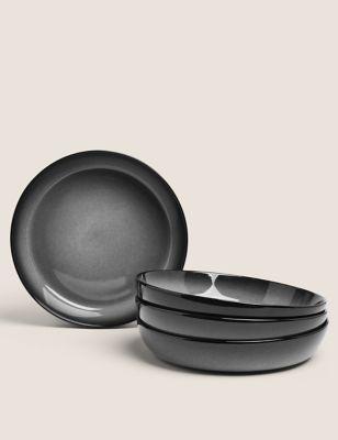 4 Piece Amberley Reactive Pasta Bowl Set