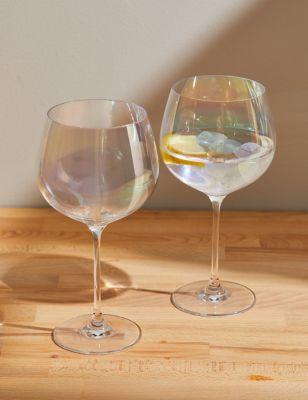 Set of 2 Lustre Gin Glasses