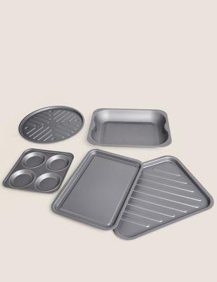 5 Piece Aluminium Roasting Set