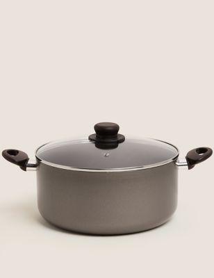 Grey Aluminium 28cm Non-Stick Stock Pot