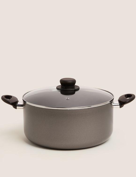 P60478903: Grey Aluminium 28cm Non-Stick Stock Pot