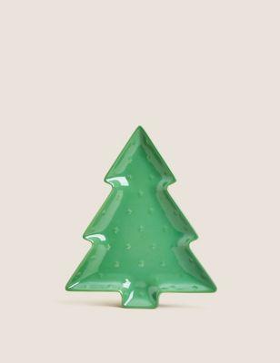 Small Christmas Tree Platter