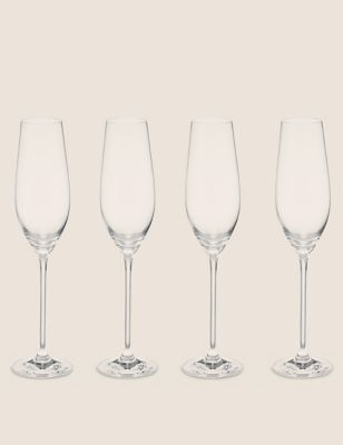 Set of 4 Maxim Champagne Flutes