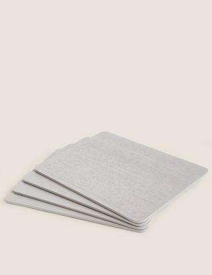 Set of 4 Grey Wooden Placemats