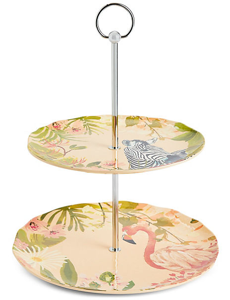 Sun-baked Two Tier Serve Stand