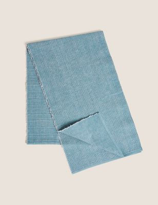 Cotton Ribbed Table Runner