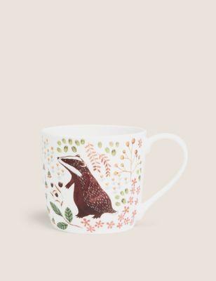 Badger Woodland Mug