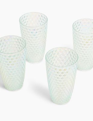 Set of 4 Lustre Picnic Highballs