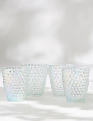 Set of 4 Lustre Picnic Tumblers