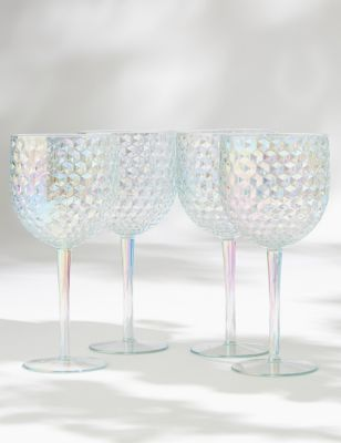 Set of 4 Lustre Picnic Wine Glasses