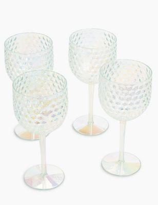 Set of 4 Lustre Picnic Wine Glasses