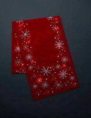 Light Up Snowflake Table Runner