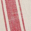 Set of 2 Cotton Striped Placemats - redmix