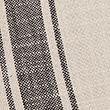 Set of 2 Cotton Striped Placemats - blackmix