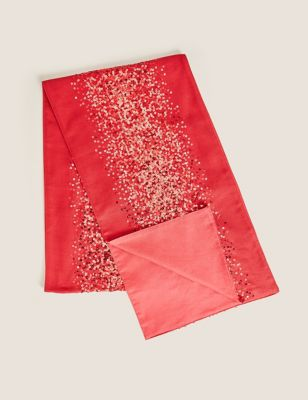 Sequin Cotton Table Runner