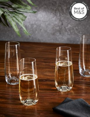 Set of 4 Maxim Stemless Prosecco Glasses