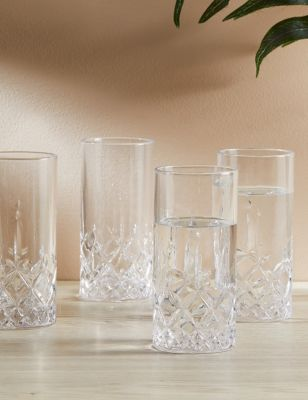 Set of 4 Charleston Highball Glasses