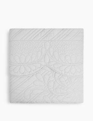 Pure Cotton Embroidered Trapunto Bedspread