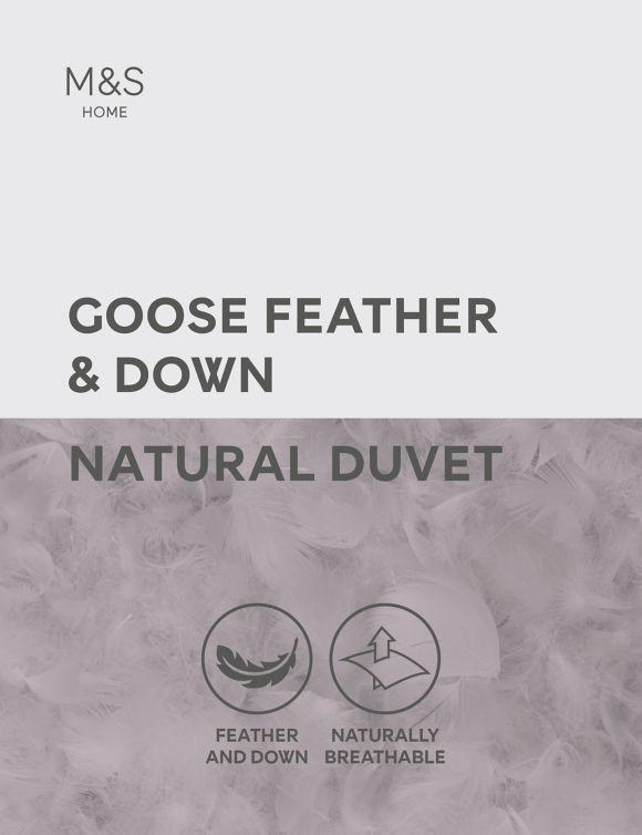 P60440537: Goose Feather & Down 10.5 Tog Duvet