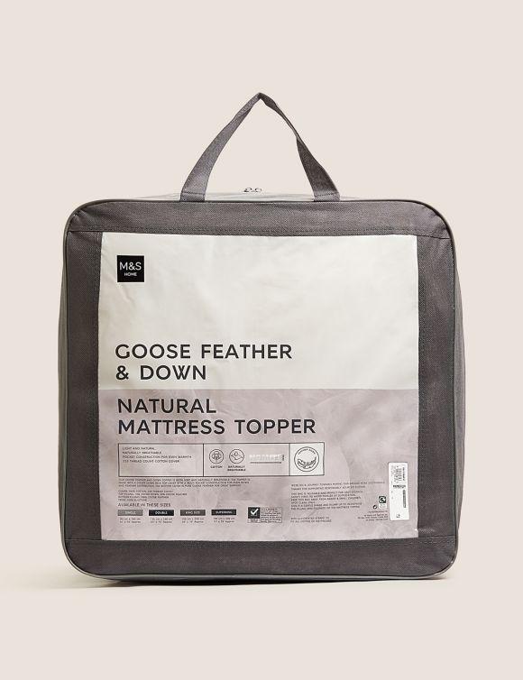 P60440487: Goose Feather & Down Mattress Topper