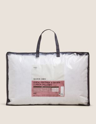 2 Pack Duck Feather & Down Medium Pillows