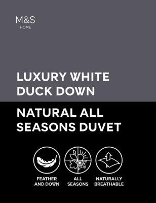 Luxury Duck Down 13.5 Tog All Season Duvet