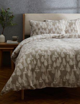 Fleece Christmas Tree Bedding Set