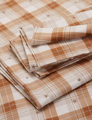 Brushed Cotton Checked Bedding Set