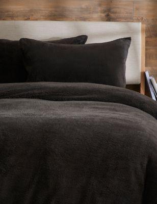 2 Pack Teddy Fleece Pillowcases