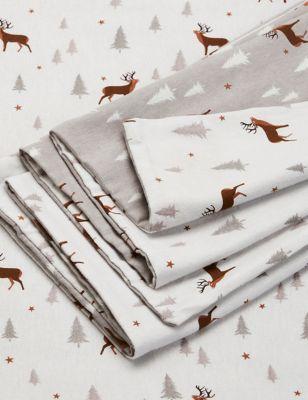 Brushed Cotton Stag Bedding Set