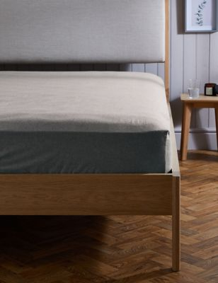 Pure Cotton Brushed Fitted Sheet