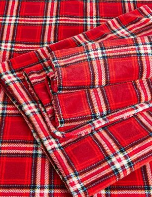 Fleece Checked Bedding Set