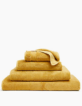 Luxury Egyptian Cotton Towel, MUSTARD, catlanding