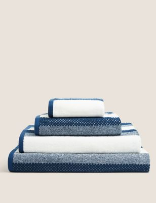 Pure Cotton Striped Textured Towel