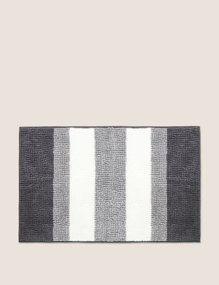 Bobble Striped Quick Dry Bath Mat