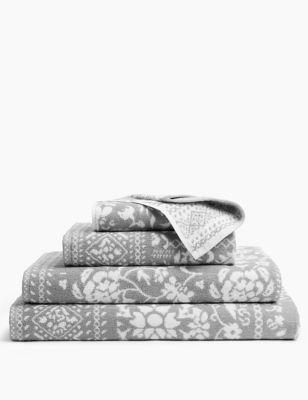 Pure Cotton Floral Patchwork Towel
