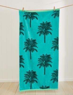 Pure Cotton Palm Beach Towel
