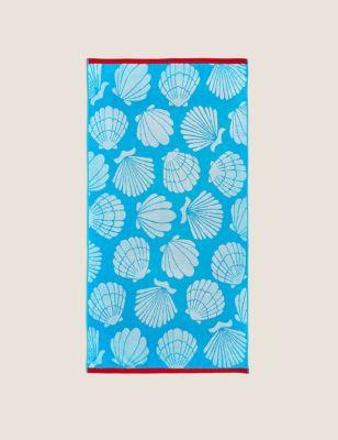 Pure Cotton Shells Beach Towel